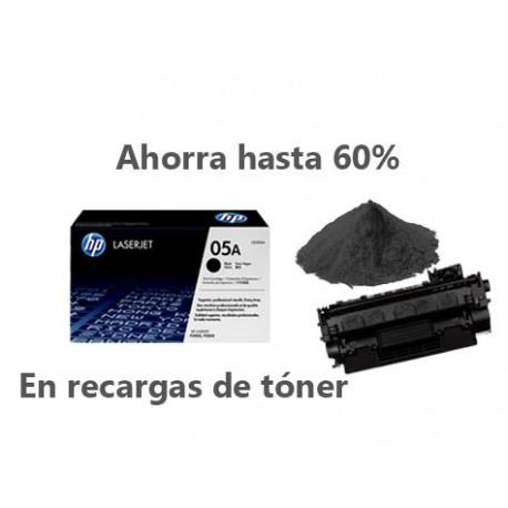 Recarga de Toner HP CE505A-05A